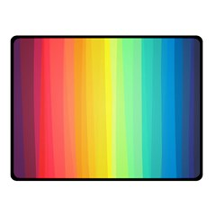Sweet Colored Stripes Background Double Sided Fleece Blanket (Small)