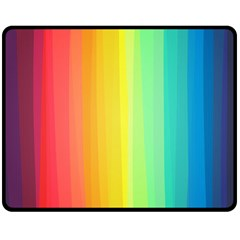 Sweet Colored Stripes Background Double Sided Fleece Blanket (medium)