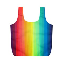 Sweet Colored Stripes Background Full Print Recycle Bags (M)