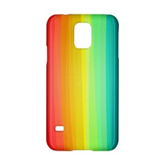 Sweet Colored Stripes Background Samsung Galaxy S5 Hardshell Case