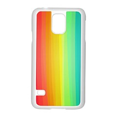 Sweet Colored Stripes Background Samsung Galaxy S5 Case (White)