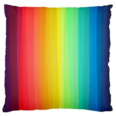 Sweet Colored Stripes Background Large Flano Cushion Case (One Side)