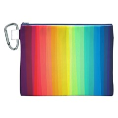 Sweet Colored Stripes Background Canvas Cosmetic Bag (XXL)