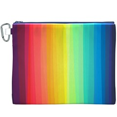 Sweet Colored Stripes Background Canvas Cosmetic Bag (XXXL)