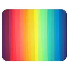 Sweet Colored Stripes Background Double Sided Flano Blanket (Medium)