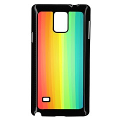 Sweet Colored Stripes Background Samsung Galaxy Note 4 Case (Black)
