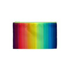 Sweet Colored Stripes Background Cosmetic Bag (XS)