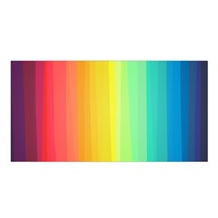 Sweet Colored Stripes Background Satin Shawl