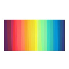 Sweet Colored Stripes Background Satin Wrap