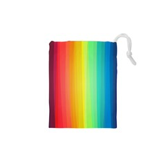 Sweet Colored Stripes Background Drawstring Pouches (xs)