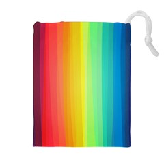 Sweet Colored Stripes Background Drawstring Pouches (Extra Large)