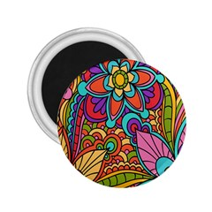 Festive Colorful Ornamental Background 2.25  Magnets