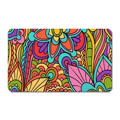 Festive Colorful Ornamental Background Magnet (Rectangular)