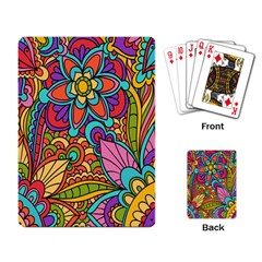 Festive Colorful Ornamental Background Playing Card