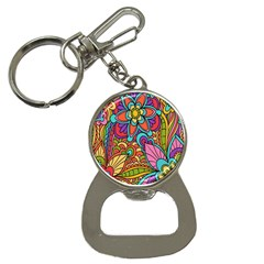 Festive Colorful Ornamental Background Bottle Opener Key Chains