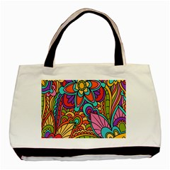 Festive Colorful Ornamental Background Basic Tote Bag