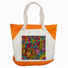 Festive Colorful Ornamental Background Accent Tote Bag