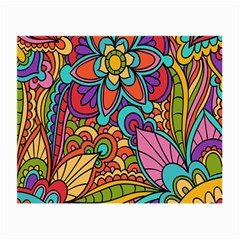 Festive Colorful Ornamental Background Small Glasses Cloth (2-Side)