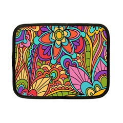 Festive Colorful Ornamental Background Netbook Case (Small)