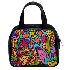 Festive Colorful Ornamental Background Classic Handbags (2 Sides)