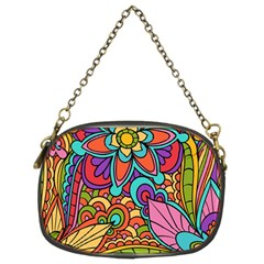 Festive Colorful Ornamental Background Chain Purses (Two Sides)