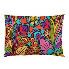 Festive Colorful Ornamental Background Pillow Case