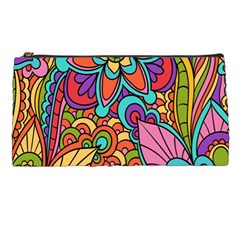 Festive Colorful Ornamental Background Pencil Cases