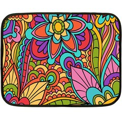 Festive Colorful Ornamental Background Double Sided Fleece Blanket (Mini)