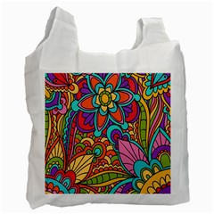 Festive Colorful Ornamental Background Recycle Bag (One Side)