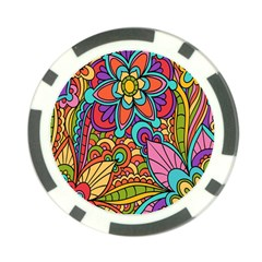 Festive Colorful Ornamental Background Poker Chip Card Guards (10 pack)