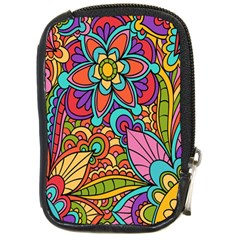 Festive Colorful Ornamental Background Compact Camera Cases