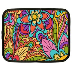 Festive Colorful Ornamental Background Netbook Case (XXL)