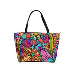 Festive Colorful Ornamental Background Shoulder Handbags