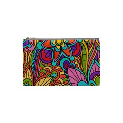 Festive Colorful Ornamental Background Cosmetic Bag (Small)