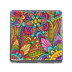 Festive Colorful Ornamental Background Memory Card Reader (Square)