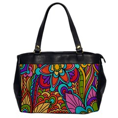 Festive Colorful Ornamental Background Office Handbags