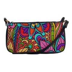 Festive Colorful Ornamental Background Shoulder Clutch Bags