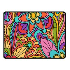 Festive Colorful Ornamental Background Fleece Blanket (Small)