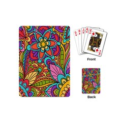 Festive Colorful Ornamental Background Playing Cards (Mini)