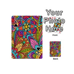 Festive Colorful Ornamental Background Playing Cards 54 (Mini)
