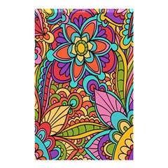 Festive Colorful Ornamental Background Shower Curtain 48  x 72  (Small)