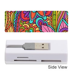 Festive Colorful Ornamental Background Memory Card Reader (Stick)