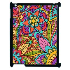 Festive Colorful Ornamental Background Apple iPad 2 Case (Black)