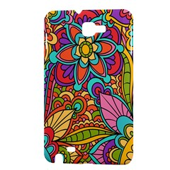 Festive Colorful Ornamental Background Samsung Galaxy Note 1 Hardshell Case