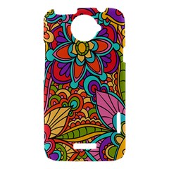 Festive Colorful Ornamental Background HTC One X Hardshell Case