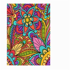 Festive Colorful Ornamental Background Large Garden Flag (Two Sides)