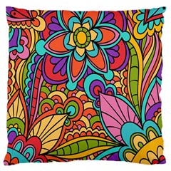Festive Colorful Ornamental Background Large Cushion Case (Two Sides)
