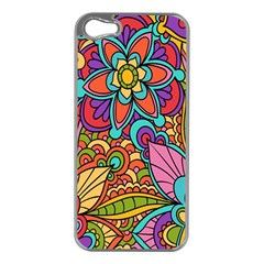 Festive Colorful Ornamental Background Apple iPhone 5 Case (Silver)