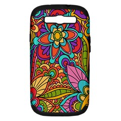 Festive Colorful Ornamental Background Samsung Galaxy S III Hardshell Case (PC+Silicone)