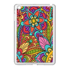 Festive Colorful Ornamental Background Apple iPad Mini Case (White)